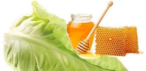 Компресс из капустного листа с медом
